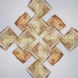abstrakt design med 50 euroräkningar, bakgrund och textur Royaltyfria Foton