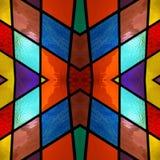 abstrakt design med m?lat glass i olik f?rger, bakgrund och textur vektor illustrationer
