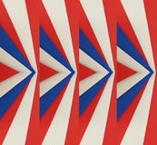 Abstrakt design med snitt av skummande i röda, vit- och blåttfärger, texturerad bakgrund Royaltyfri Bild