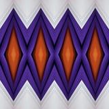 abstrakt design med snitt av tyg i apelsin, vitt och purpurfärgat, bakgrund och textur vektor illustrationer