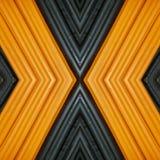 abstrakt design med stycken av plasticinestänger i färger apelsin och svart, bakgrund och textur Royaltyfria Foton