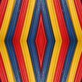 abstrakt design med stycken av plasticinestänger i färger som är röda som är gula och som är blåa, bakgrund och textur Fotografering för Bildbyråer