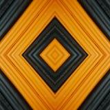 abstrakt design med stycken av plasticinestänger i färger svart och apelsin, bakgrund och textur Royaltyfri Fotografi