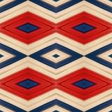 abstrakt design med stycken av plasticinestänger i färger vit, blått och rött, bakgrund och textur Arkivfoto
