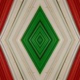 abstrakt design med stycken av plasticinestänger i färger vit, grönt och rött, bakgrund och textur Arkivbilder