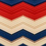 abstrakt design med stycken av plasticinestänger i röda färger, vit och blått, bakgrund och textur Royaltyfri Fotografi