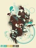 abstrakt designaffisch Royaltyfria Bilder