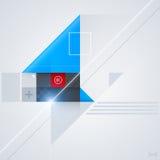 Abstrakt designbeståndsdel med glansiga geometriska former Royaltyfria Bilder
