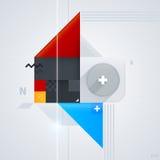 Abstrakt designbeståndsdel med glansiga geometriska former Arkivbild