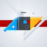 Abstrakt designbeståndsdel med glansiga geometriska former Arkivfoto