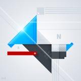 Abstrakt designbeståndsdel med glansiga geometriska former Arkivfoton