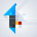 Abstrakt designbeståndsdel med glansiga geometriska former Royaltyfri Fotografi