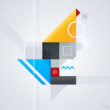 Abstrakt designbeståndsdel med glansiga geometriska former Royaltyfria Foton