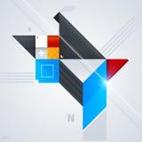 Abstrakt designbeståndsdel med glansiga geometriska former Fotografering för Bildbyråer