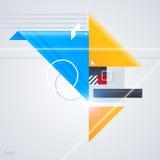 Abstrakt designbeståndsdel med glansiga geometriska former Royaltyfri Foto