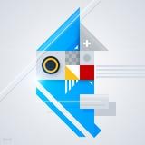 Abstrakt designbeståndsdel med glansiga geometriska former Royaltyfri Bild