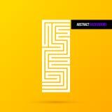 Abstrakt designbeståndsdel på ljus gul bakgrund EPS10 royaltyfri illustrationer