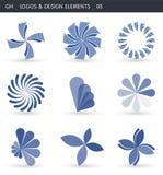 abstrakt designelement stock illustrationer