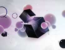 abstrakt designelementdatalista vektor illustrationer