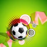 abstrakt designfotboll royaltyfri illustrationer