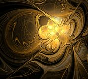 abstrakt designfractal Royaltyfri Fotografi