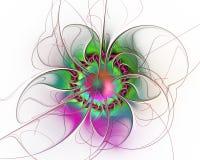 abstrakt designfractal Overklig blomma på vit arkivbilder