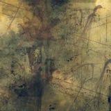 Abstrakt designgrungetextur av ett träsk och sepia tonar med beståndsdelar av den gamla spindelrengöringsduken Fotografering för Bildbyråer