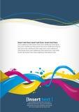 abstrakt designmall Arkivfoton