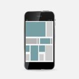 Abstrakt designmobiltelefon. Vektorillustration Arkivbild