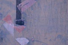 Abstrakt detalj av den gamla gröna gråa dörren med band -1 Royaltyfri Foto