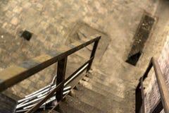 Abstrakt detalj av rostig trappa Fotografering för Bildbyråer
