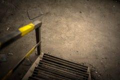 Abstrakt detalj av rostig trappa Royaltyfria Foton