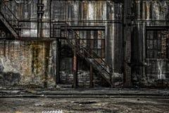 Abstrakt detalj av rostig trappa Arkivfoto