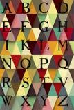 Abstrakt diagonal alfabetillustration Arkivfoton