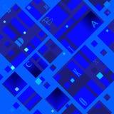 Abstrakt diagonal modell som baseras på fyrkantiga former stock illustrationer