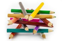 Abstrakt diagram av blyertspennor Royaltyfri Bild