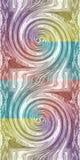 Abstrakt diagram, suddig spiral Royaltyfri Bild