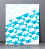 Abstrakt digital affärsbroschyr, geometrisk design i formatet A4, Royaltyfria Bilder