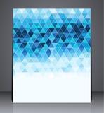 Abstrakt digital affärsbroschyrreklamblad, geometrisk design i formatet A4 Fotografering för Bildbyråer