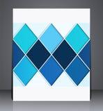 Abstrakt digital affärsbroschyrreklamblad, geometrisk design i formatet A4 Arkivbilder