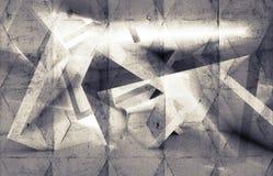 Abstrakt digital bakgrund med betongväggen stock illustrationer