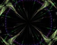 Abstrakt digital fractal, prydnad f?r fantasi f?r design f?r modernt f?r best?ndsdelr?relse f?r garnering dynamiskt h?rligt kort  stock illustrationer