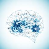 Abstrakt digital hjärna, teknologibegrepp vektor illustrationer
