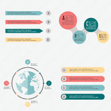 Abstrakt digital illustration Infographic Royaltyfria Bilder