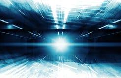 Abstrakt digital modern bakgrund 3d med ljus