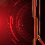 Abstrakt digital teknologi med den metalliska mallen för rambanerbakgrund Royaltyfri Bild