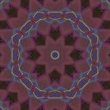 Abstrakt digitalt, mode för mandala för mode för symmetrisk design för mosaik futuristiskt, magi, målarfärg royaltyfria bilder