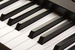 abstrakt digitalt piano Arkivfoton