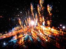 abstrakt dimensionella dynamiska tre Royaltyfri Fotografi