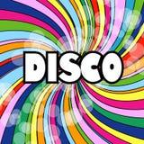 Abstrakt diskoWallpaperbakgrund stock illustrationer